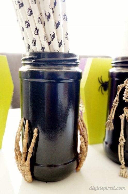 Recycled Spooky Halloween Jars