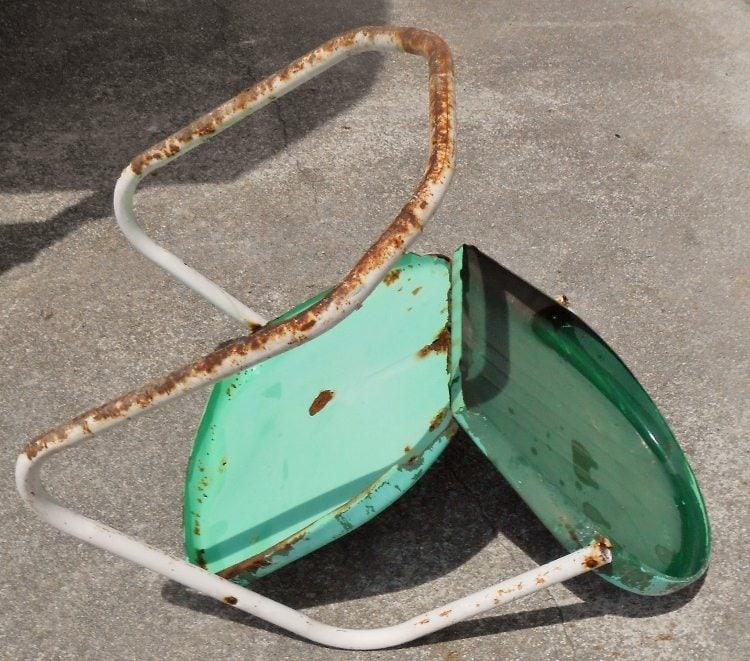 Refurbished Retro Metal Chair