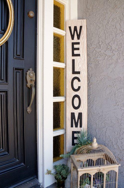 Repurposed Laminate Welcome Sign (4)