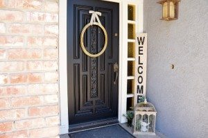 Repurposed Laminate Welcome Sign (5)