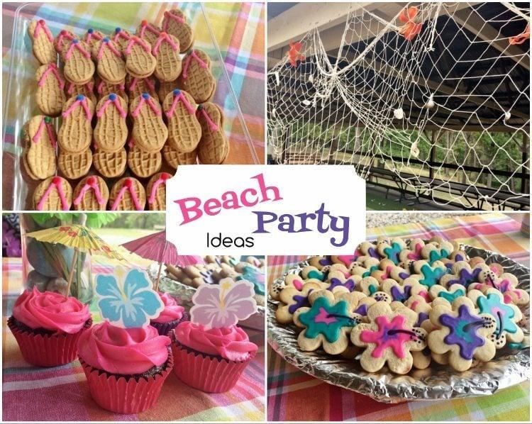 beach party birthday diy inspired