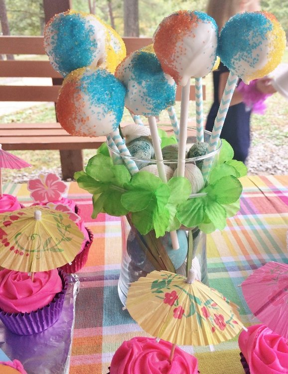 Beach Themed Party Cake Pops