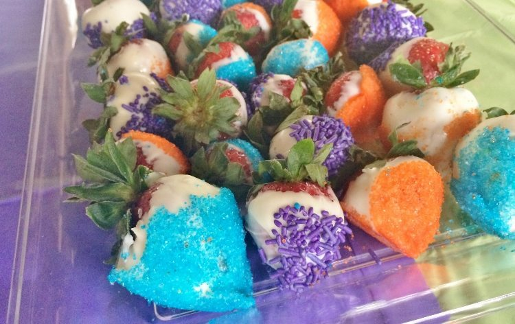 Beach Themed Party Chocolate Covered Strawberries