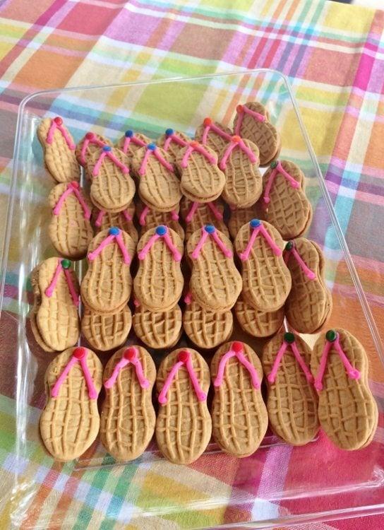 0f0c5371a76de Beach Themed Party Flip Flop Cookies