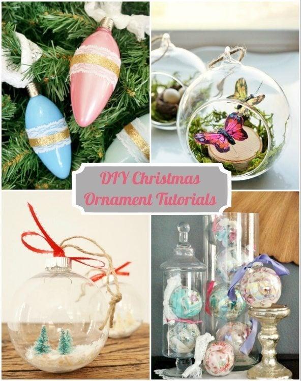 DIY Christmas Ornament Tutorials DIY Inspired