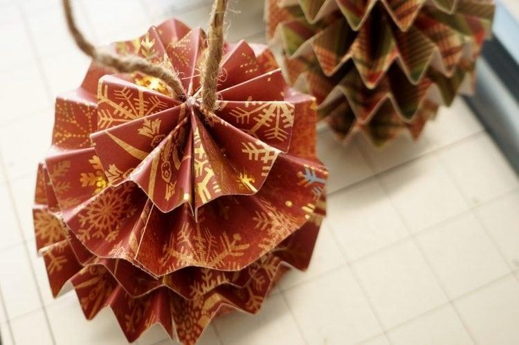DIY Paper Christmas Ornaments Twine
