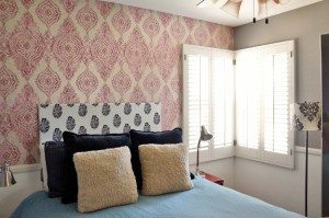 Plantation Shutters Guest Bedroom