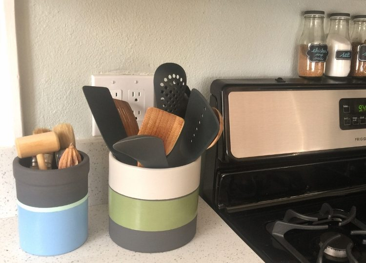 Utensil Holder Thrift Store Makeover