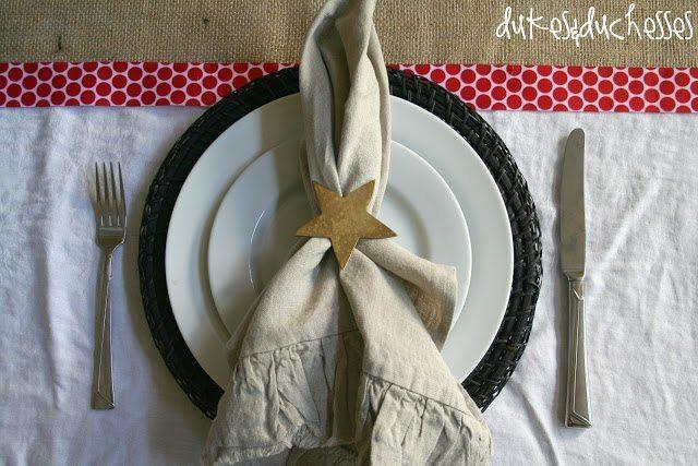 Burlap Christmas Table Runner