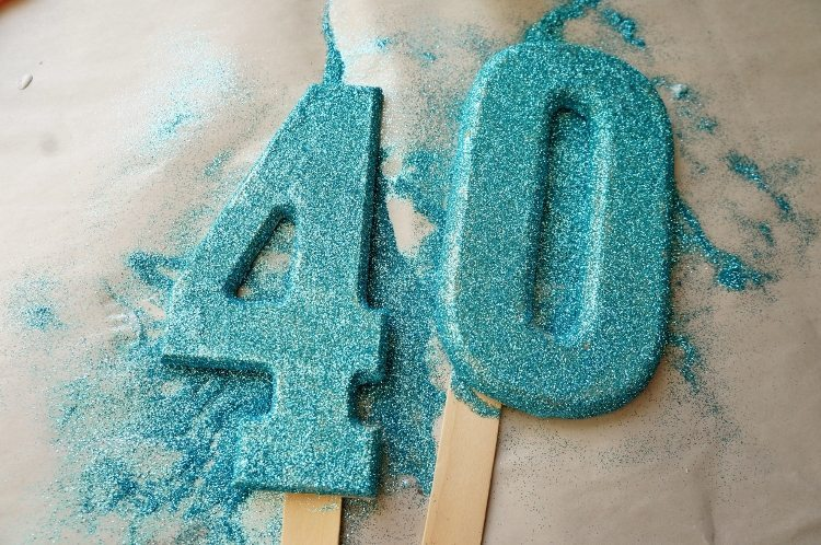 DIY Cake Topper 40th Birthday
