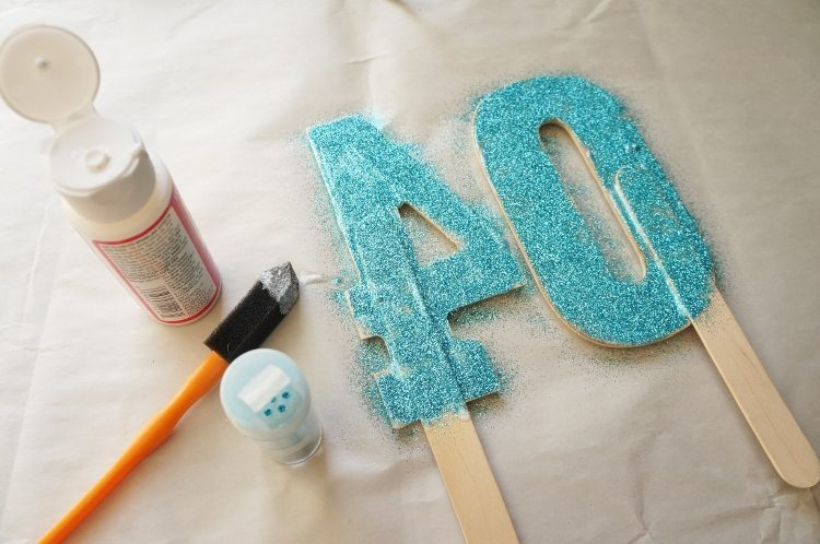 Diy glittered number cake topper diy inspired diy cake topper numbers for age solutioingenieria Image collections