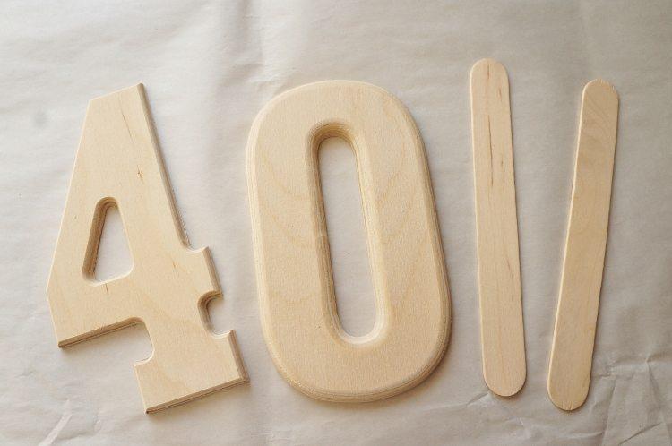 DIY Cake Topper Wood Numbers
