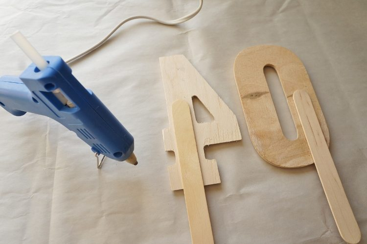 DIY Cake Topper For A 40th Birthday Party
