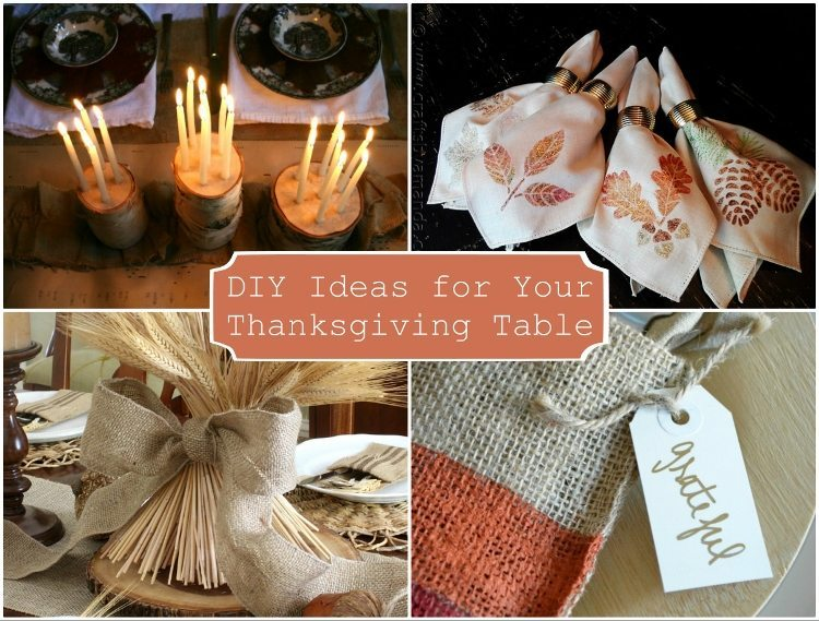 Diy ideas for your thanksgiving table diy inspired Thanksgiving table decorations homemade