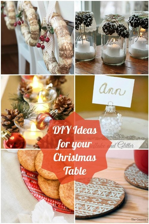 DIY Ideas for your Christmas Table DIY Inspired