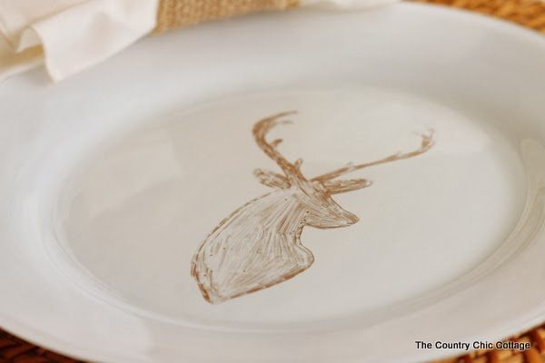 Deer Painted Plates