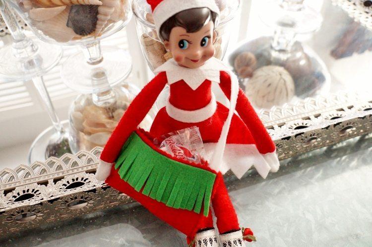 Elf on the Shelf No Sew Messenger Bag First Day Idea