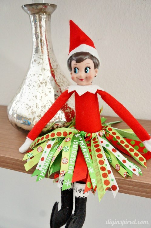 Elf On The Shelf Diy Ribbon Tutu Diy Inspired