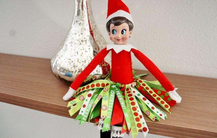 Elf On The Shelf DIY Ribbon Tutu