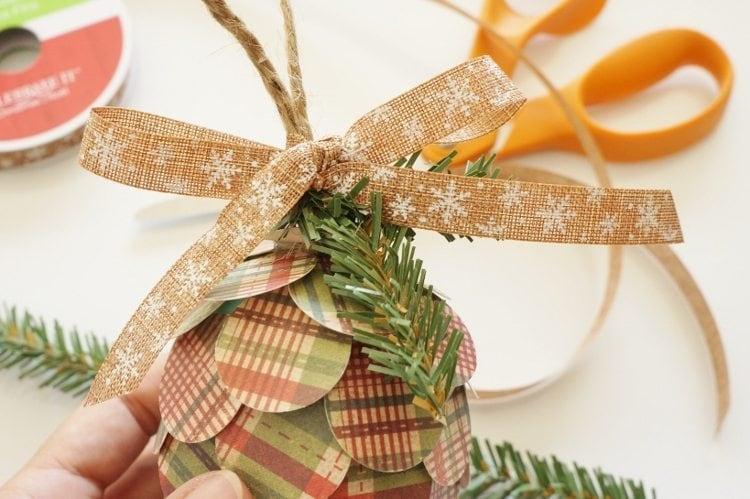 Paper Pine Cone Paper Craft