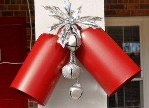 Repurposed Light Fixture Christmas Bells