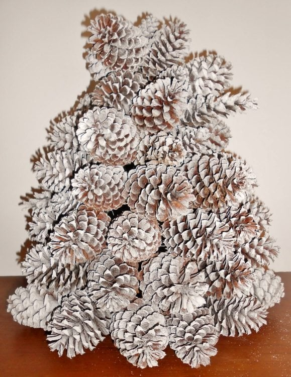 repurposed pine cone christmas tree diy inspired