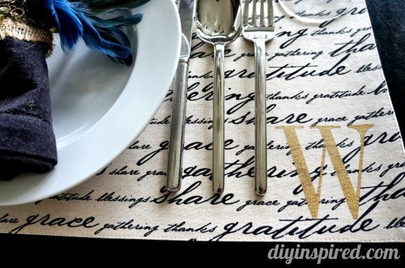 Stencil Monogrammed Placemats