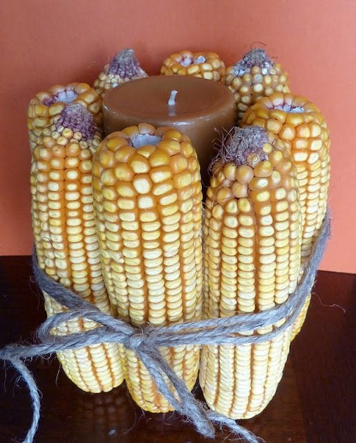 Thanksgiving Corn Candles