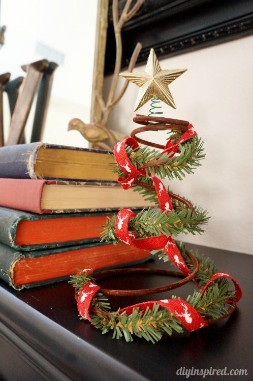 Upcycled Bed Spring Christmas Tree DIY Inspired
