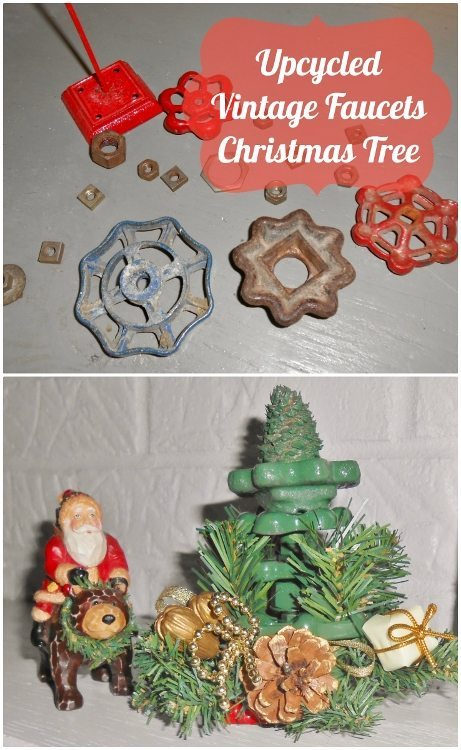 Upcycled Vintage Faucets Christmas Tree DiyInspired.com