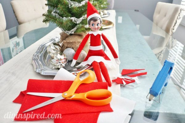 Cheap elf on the shelf crafts with tutorials diy inspired for Elf shelf craft show