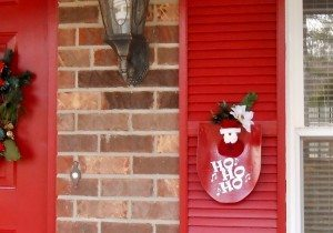 Repurposed Shovel Turned Santa Christmas Decor