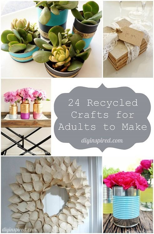 24 Cheap Recycled Craft for Adults to Make DIY Inspired