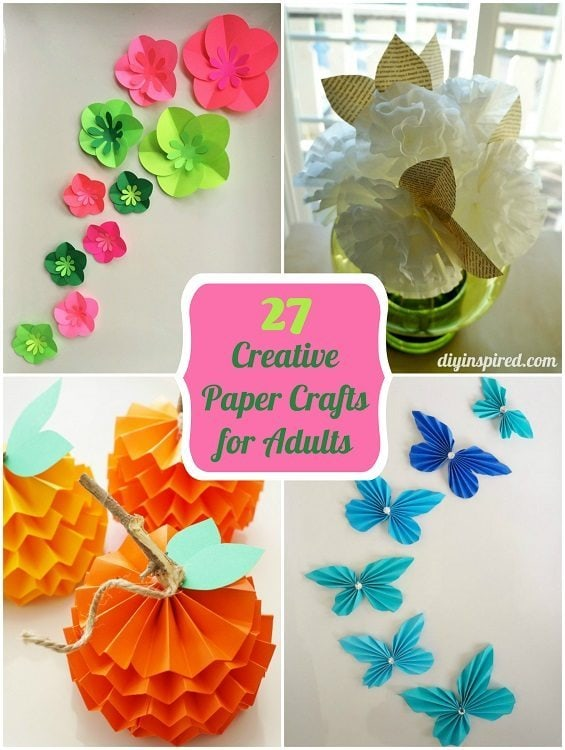 Crafts with paper for adults 28 images paper crafts for Creative craft ideas with paper