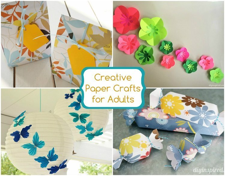 27 creative paper crafts for adults diy inspired for Creative craft ideas with paper