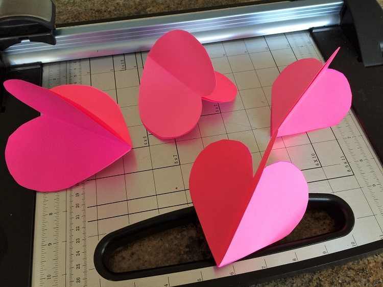 3d Paper Hearts Paper Craft Diy Inspired