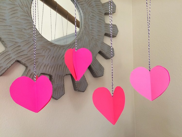 3D Paper Hearts Craft Lightning