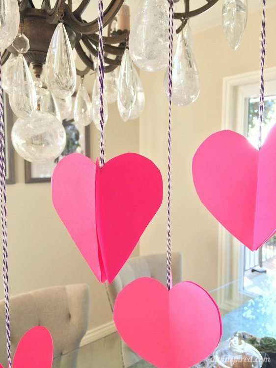 3D Paper Hearts DIY Inspired