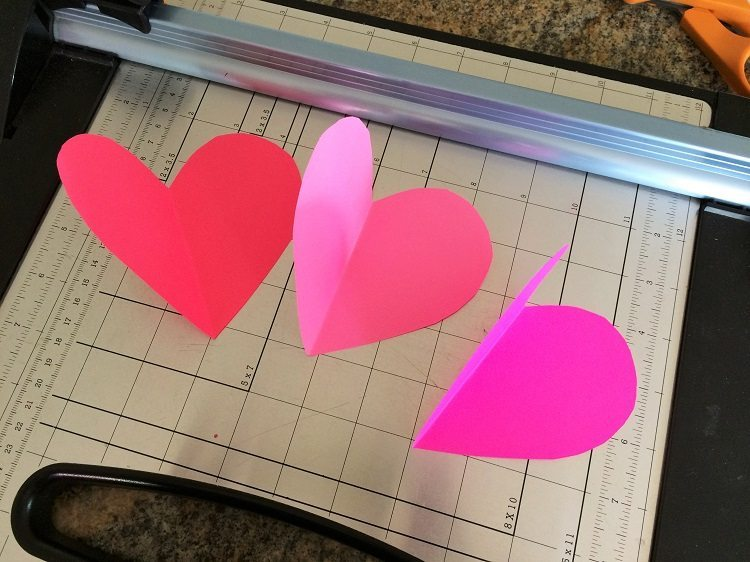 3D Paper Hearts Decoration
