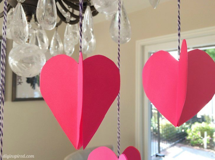 3D Paper Hearts Craft
