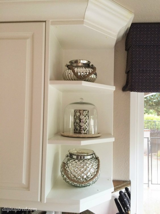 DIY Inspired Kitchen Tour Mercury Glass Home Decor
