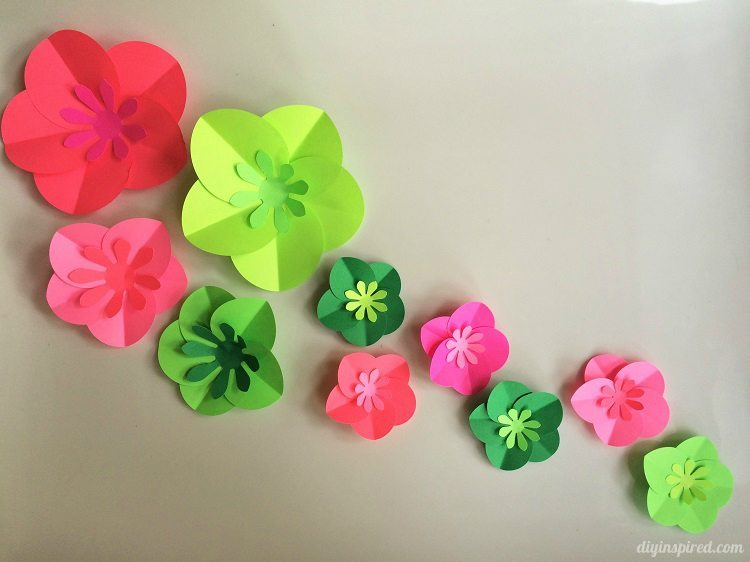 Easy diy paper flower demirediffusion easy diy paper flowers tutorial diy inspired mightylinksfo