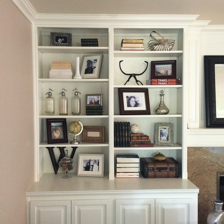 How To Decorate Bookshelves bookshelf décor ideas - diy inspired