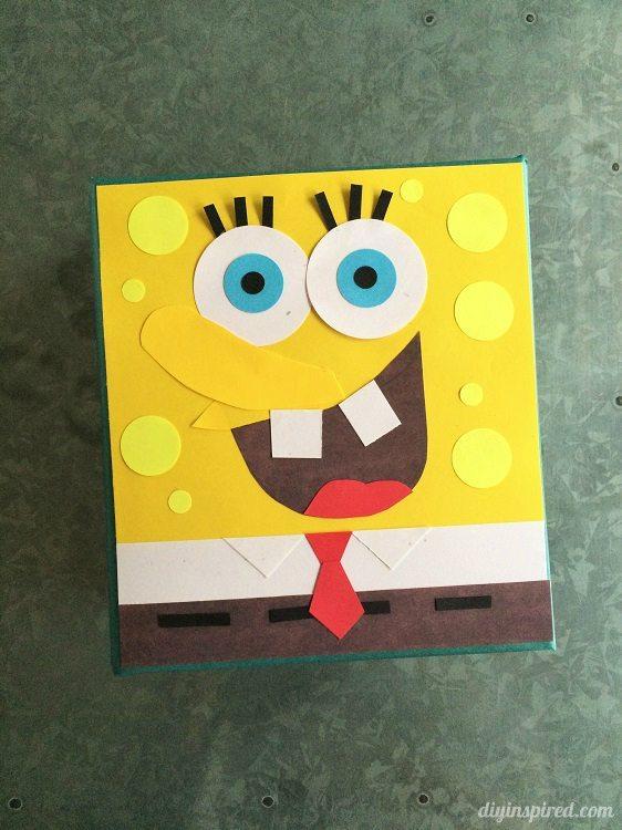 Spongebob Gift Wrapping DIY