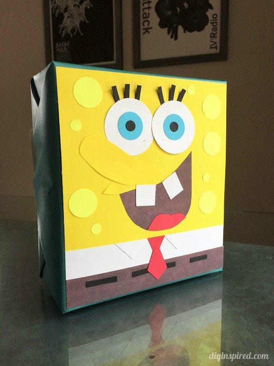 Spongebob Squarepants Gift Wrapping DIY Inspired