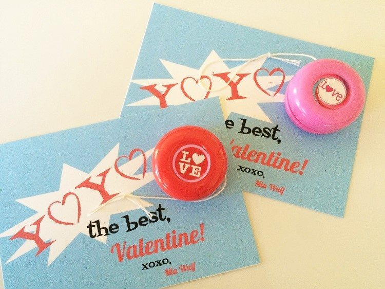 Yoyo Valentine Free Printable