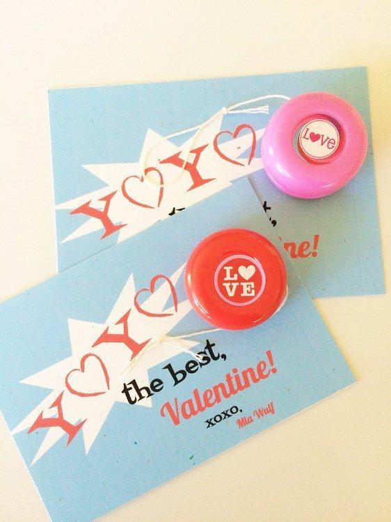 Yoyo Valentine Printable DIY Inspired