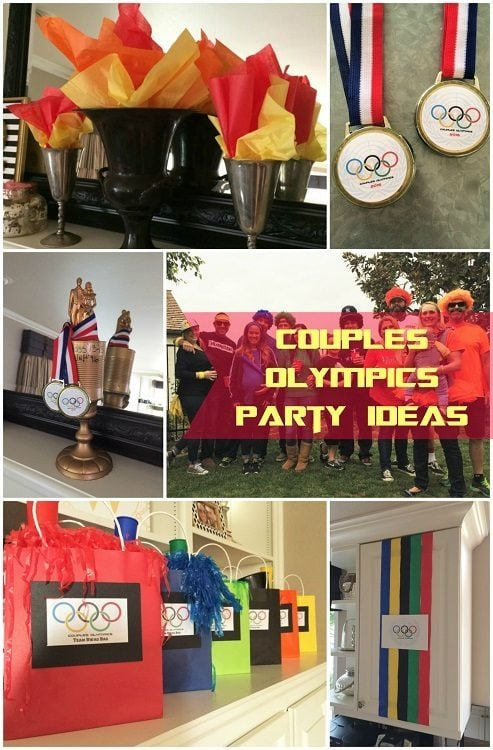 Couples olympics theme party for adults diy inspired for Diy birthday party decorations for adults