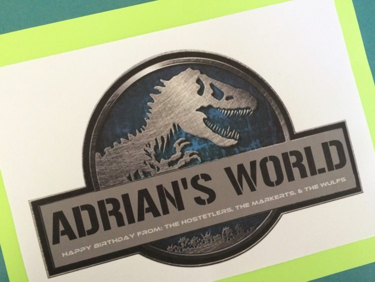 Jurassic World Gift Wrapping