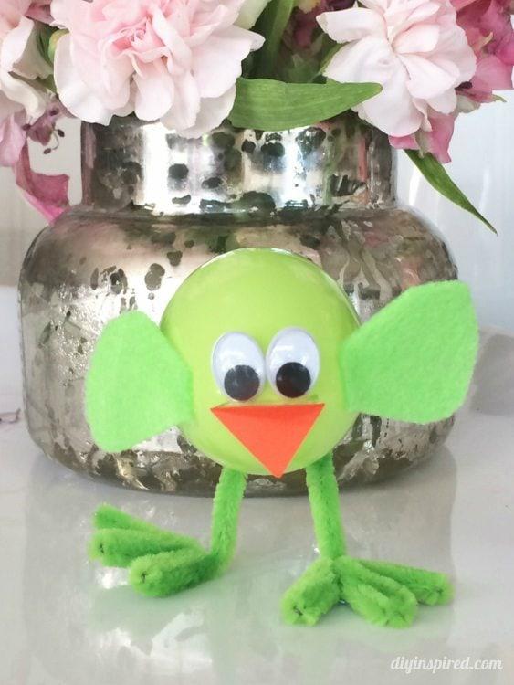 Plastic Easter Egg Chicks - 15 Minute Craft - DIY Inspired